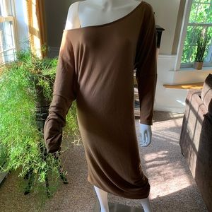 Deb Dresses - Brown ruched dress